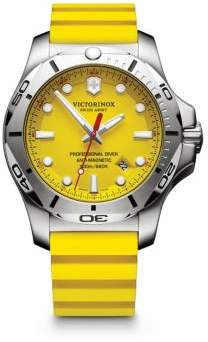 Victorinox INOX Professional Diver Stainless Steel & Leather Strap Watch
