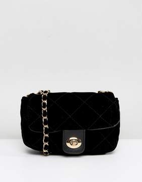 Pieces Quilted Chain Cross Body Bag
