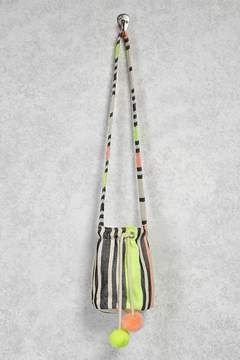 Forever 21 Neon Stripe Canvas Bucket Bag