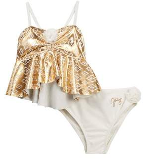 Juicy Couture Printed Top Tankini (Little Girls)
