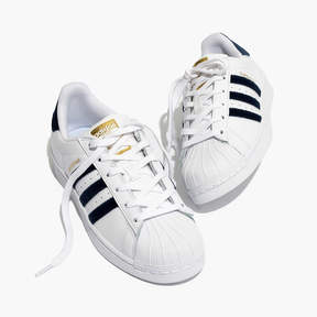 Madewell Adidas® SuperstarTM Lace-Up Sneakers in Velvet