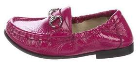 Gucci Girls' Patent Leather Horsebit Loafers