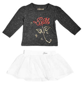 GUESS Long-Sleeve Tee and Skirt Set (0-24m)