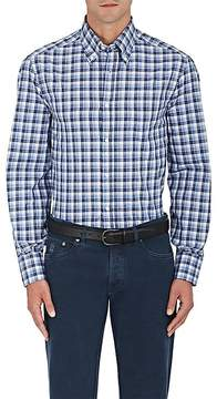 Brunello Cucinelli Men's Plaid Cotton Poplin Shirt