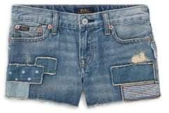 Ralph Lauren Little Girl's& Girl's Distressed Denim Shorts