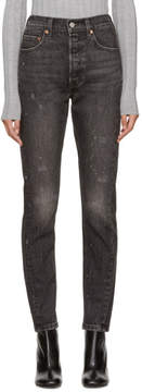 Levi's Levis Black 501 Skinny Altered Jeans