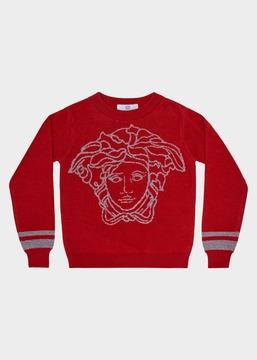 Versace Contrast Medusa Knit Sweater