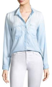Bella Dahl Fray Ombre Button-Down Shirt