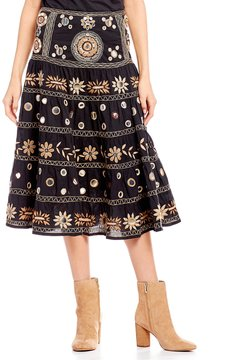 Chelsea & Violet Silvia Embroidered Midi Skirt