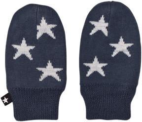 Molo Midnight Navy Snowflake Mittens