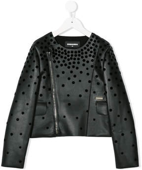 DSQUARED2 cut out patterned jacket