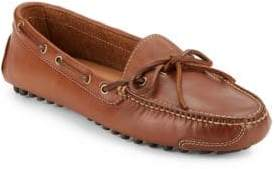 Cole Haan Lace Tie Leather Driver Loafers
