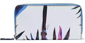 Emilio Pucci Printed Textured-Leather Continental Wallet