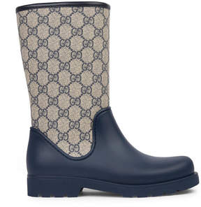 Gucci Monogram print rain boots