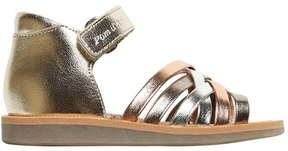 Pom D'Api Metallic Leather Sandals