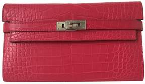 Hermes Kelly Pink Exotic leather Wallets