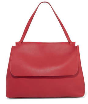 The Row Top Handle 14 Textured-leather Shoulder Bag