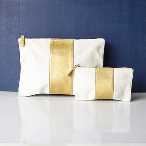 Cathy's Concepts CATHYS CONCEPTS Personalized Gold Faux Leather Clutch Set
