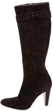 Calvin Klein Collection Suede Knee-High Boots