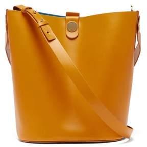 Sophie Hulme Swing Large Leather Bucket Bag - Womens - Brown