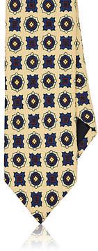 Drakes Drake's Men's Medallion-Print Silk Necktie