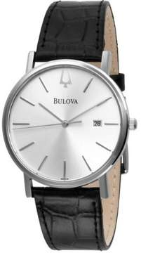 Bulova Men's 96B104 Date Leather Watch, 37mm