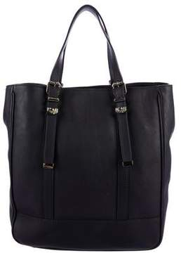 Versace Leather Buckle Tote