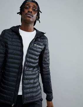Columbia Powder Lite Lightweight Hybrid Puffer Jacket Hooded in Black
