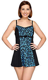 Fit 4 U D's & E's Double Bow Bella Rosa Swim Dress