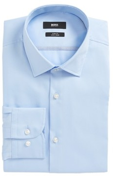 BOSS Men's Jerris Slim Fit Easy Iron Solid Dress Shirt