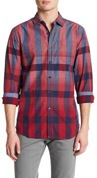 Report Collection Plaid Long Sleeve Slim Fit Shirt
