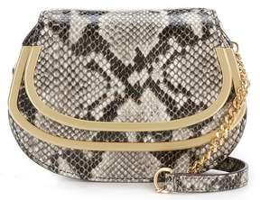 Donna Karan Snake Round-Hardware Cross-Body Bag