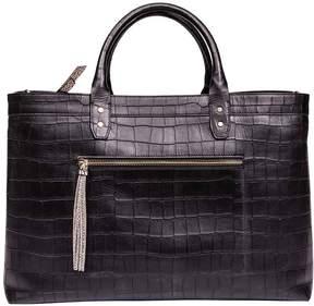 Borbonese Large Leather Handbag