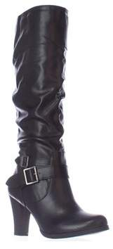 Style&Co. Sc35 Rudyy Heeled Knee High Boots, Black.