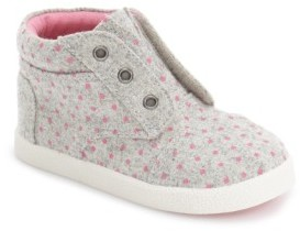 Toms Infant Girl's 'Paseo' High Top Sneaker