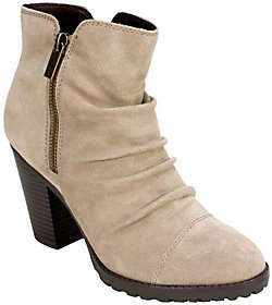 White Mountain Suede Leather Ankle Boots - Taft