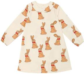 Mini Rodini Rabbits Organic Cotton Gabardine Dress