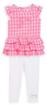 Juicy Couture Baby's Two-Piece Gingham Top and Leggings Set