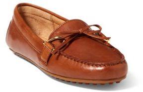 Ralph Lauren Briley Leather Loafer Deep Saddle Tan 10