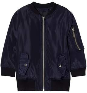Little Remix Navy Liana Lace-Up Bomber Jacket