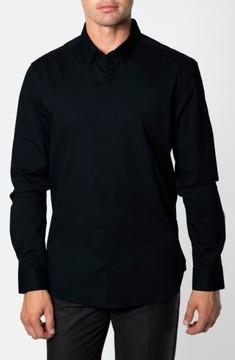 7 Diamonds Men's 'Peace Train' Trim Fit Woven Shirt