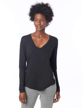 Alternative Apparel Favorite Melange Burnout Jersey High Slit Long Sleeve T-Shirt