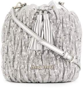 Miu Miu sequin bucket bag