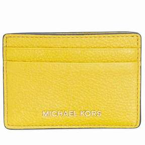 Michael Kors Money Pieces Leather Card Holder- Sunflower - SUNFLOWER - STYLE