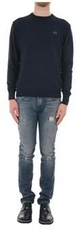 La Martina Men's Blue Acrylic Sweatshirt.
