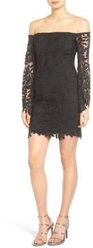 Bardot Flora Lace Off-the-Shoulder Dress