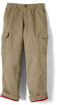 Lands' End Lands'end Boys Husky Iron Knee Lined Pull On Cargo Pants