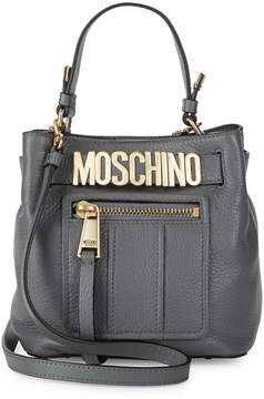 Moschino Women's Timeless Leather Bucket Bag
