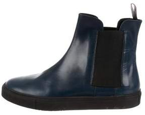 Fratelli Rossetti Leather Round-Toe Ankle Boots