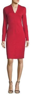 Escada Italian Jersey V-Neck Sheath Dress